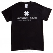 Missouri Star Large T-Shirt - Black with White Logo