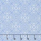 Gabrielle - Tile Blue White Yardage