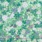 Topia - Flowers Moss Digitally Printed Yardage