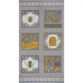 Bee Joyful - Bee Dove Grey Panel