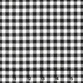 Ooh La La! - Gingham Check White Black Yardage