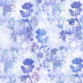 Garden of Dreams - Sprigs Purple Brilliance Digitally Printed Yardage