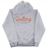 Quilting is Cheaper Than Therapy Large Hoodie - Ash Gray