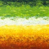 Vincent Van Gogh 3 - Brushstroke Ombre Sunrise Digitally Printed Yardage