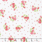 Sweet Pea - Little Sweet Peas White Flannel Yardage