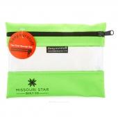 "MSQC's SEEYOURSTUFF Bag 6"" x 8"" - Lime Green"