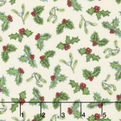 Spruce Mountain - Tossed Holly Cream Yardage