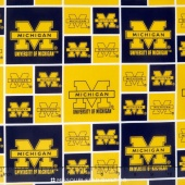 College - University of Michigan Block Yardage