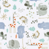 "Cuddle Prints - The Mighty Jungle Denim 60"" Minky Yardage"