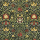 Morris Holiday 1904 - Persian Ebony Metallic Yardage