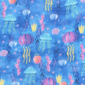 Octopus Garden - Jellyfish Ocean Digitally Printed Yardage