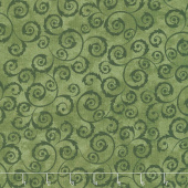 Amour - Scroll Green Yardage