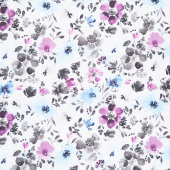 Awakenings - Large Floral Blue Yardage