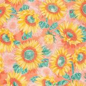 Solana - Sunflowers Clementine Yardage