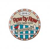 Row by Row 2016 Round Pin