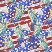 Lady Liberty - Liberty Collage Multi Yardage