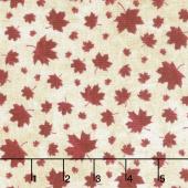 Canadian Classics - Maple Leaves Beige Yardage