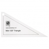 EZ Quilting Jelly Roll Ruler - Mini 120º Triangle