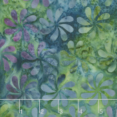 Graphic Jewels Batiks - Propeller Mardigras Yardage