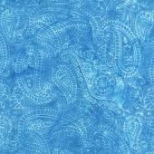 Moroccan Bazaar Batiks - Paisley Outlining Medium Lagoon Yardage