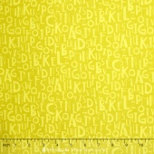 Logos - Alphabet Yellow Yardage