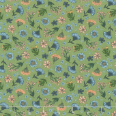 Bee Kind - Floral Toss Green Multi Yardage