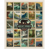 Destinations - Great Smoky Mountains Poster Multi Digitally Printed Panel