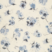 Natural Blooms - Flowers Natural Yardage