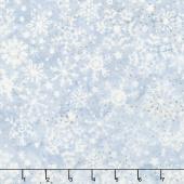 Winterscape Batiks - Snowflake Pewter Yardage