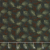 Winter Manor - Mini Pine Ebony Yardage