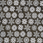 Snow Sweet - Paper Snowflakes Charcoal Yardage