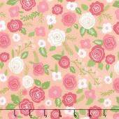 Lollipop Garden - Springtime Blooms Tangerine Yardage