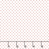 Swiss Dot - Swiss Dot Red on White Yardage