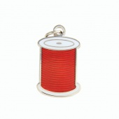 Spool Charm Red by Pin Peddlers
