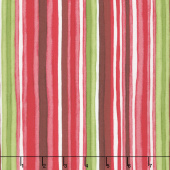 Chloe - Watercolor Stripe Pink/Red Yardage