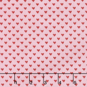 Hello Sweetheart - Mini Hearts Pink Yardage