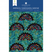 Improv Dresden Geese Quilt Pattern by Missouri Star