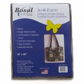 """In-R-Form Single Sided Fusible Stabilizer 18"""" x 58"""" Black"""