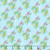 Bubbie's Buttons and Blooms - Grandma Olive's Nosegay Turquoise Icing Yardage