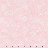 Flower Show Spring - Emily Silhouette Flower Pink Yardage