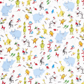 Celebrate Seuss! - Characters White Yardage