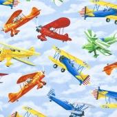 Novelty - Propeller Planes Sky Yardage