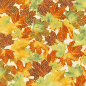 Giving Thanks - Leaves Harvest Metallic Yardage