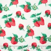 Fruta y Flor - Strawberry Patch Cloud Yardage