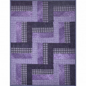 Woolies Grape Rail Fence Quilt Pod Kit