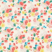 Midsummer Meadow - Wild Bouquet Cream Yardage