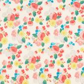 Midsummer Meadow - Wild Bouquet Cream Yardage