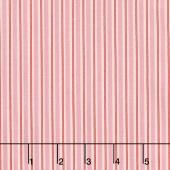 Kewpie Christmas - Christmas Stripes Pink Yardage