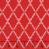 Harry & Alice - Lattice Red Yardage