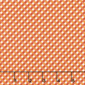 Autumn Love - Gingham Orange Yardage